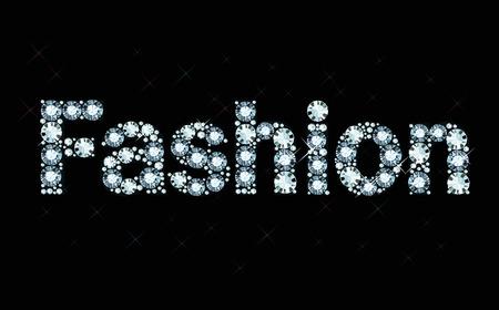 Diamond word fashion