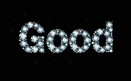 exuberance: Diamond word good Illustration