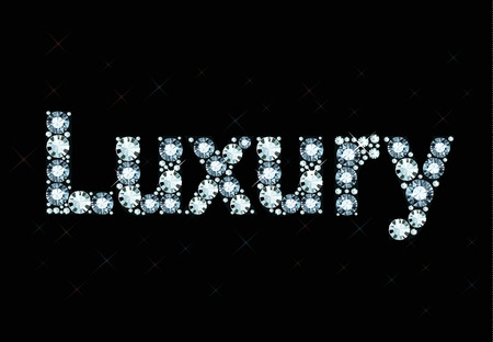 exuberance: Diamond word luxury