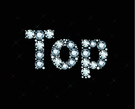 exuberance: Diamond word top Illustration