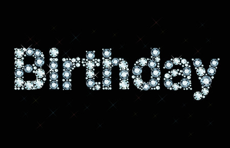 diamond letters: Diamond word birthday
