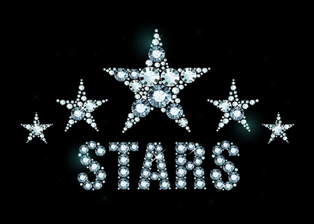exuberance: Stars made of shiny diamonds