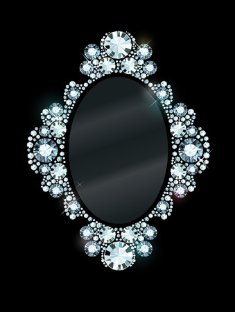 Mirror frame made of gems