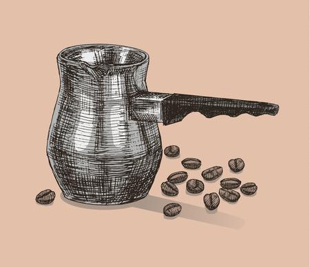 turk: drawn turk for brewing coffee
