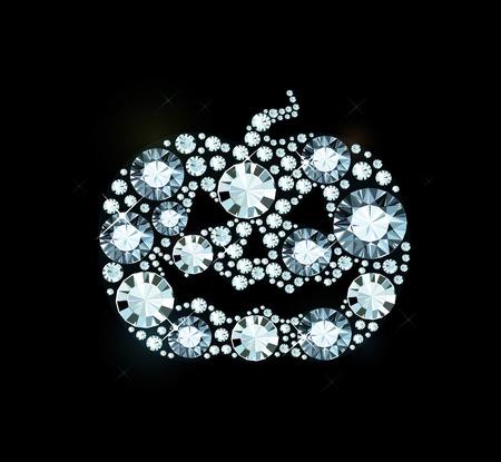 dynia: Dynia Halloween z błyszczącą Diamonds