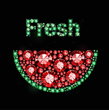 exuberance: Watermelon made of colored gems