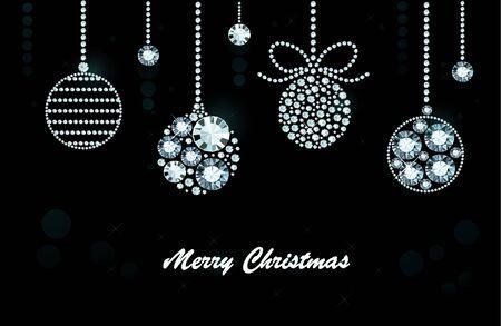 Christmas Background Made of Shiny Diamonds