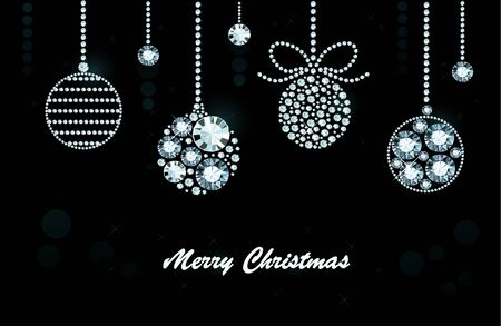 exuberance: Christmas Background Made of Shiny Diamonds