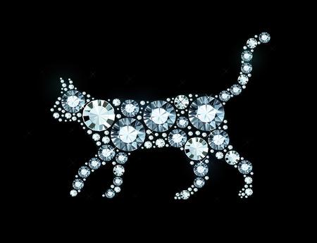 exuberance: Cat Made of Shiny Diamonds