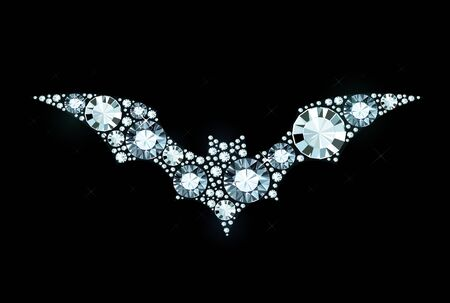 exuberance: Bat Made of Shiny Diamonds