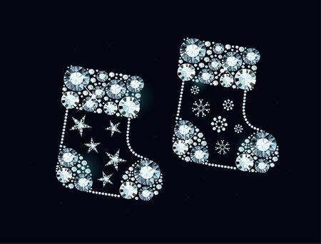 Christmas Socks Made of Shiny Diamonds