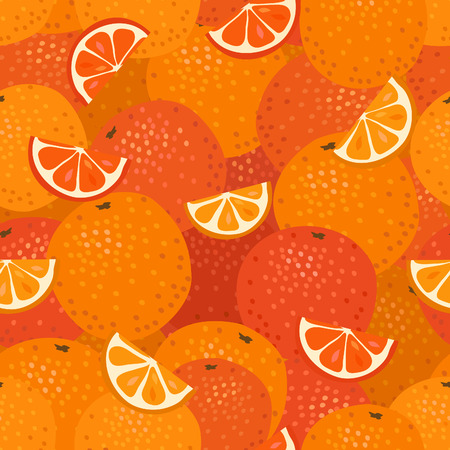 grapefruits: Seamless pattern with stylized oranges and grapefruits