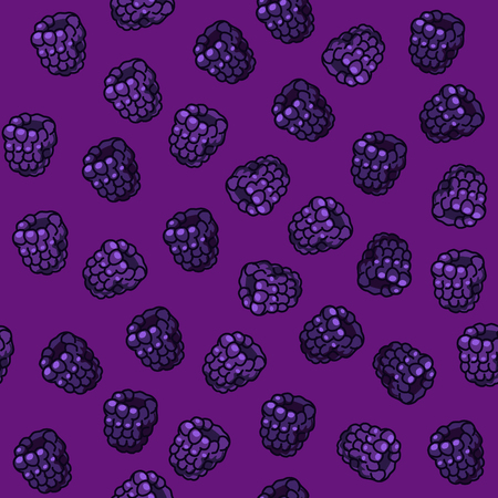 picked: Seamless Pattern with Blackberries on Bright Background Illustration