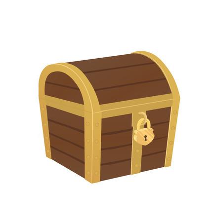 Vector illustration of closed treasure chest
