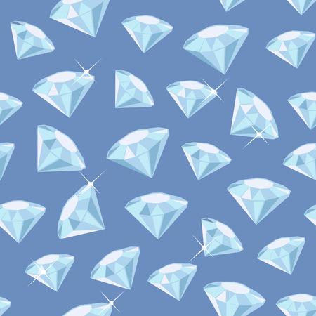 exuberance: Seamless pattern made of diamonds Illustration