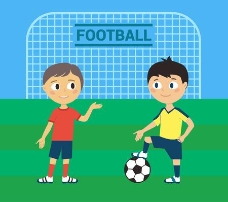 Illustration of Kids Playing Football or Soccer Illustration