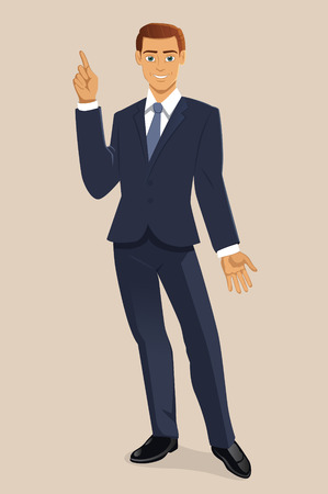 Vertical Illustration of Smiling Businessman Illustration