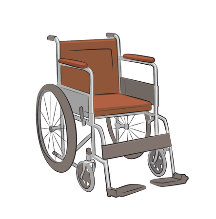 wheelchair illustration isolated on white background Illustration