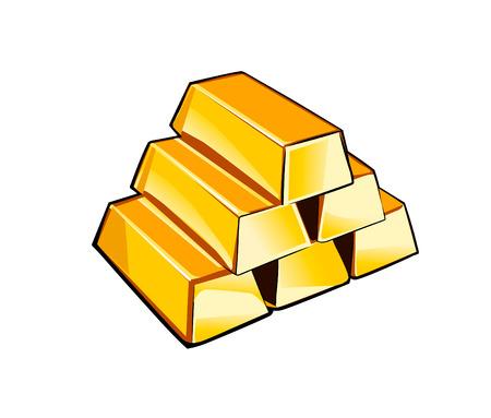 shiny gold: Shiny gold bars isolated on white background