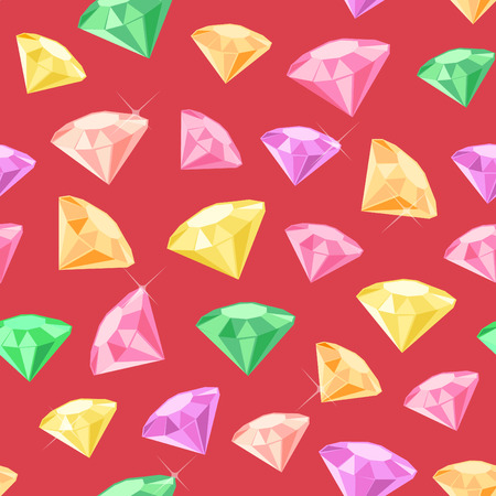 exuberance: Seamless pattern made of colored gems