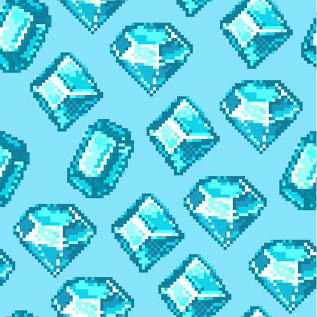 Seamless pixel pattern made of diamonds