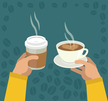 Hands Holding Cup Of Coffee