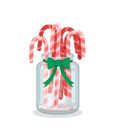 Christmas Jar Decoration with Candy Canes