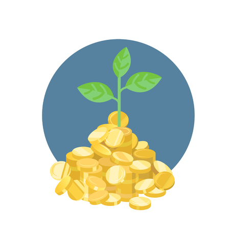 plant growth: plant growth from golden coins