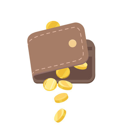 Vector Wallet and Falling Gold Coins