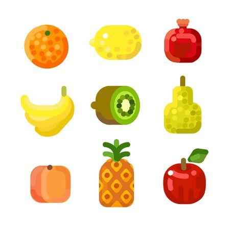Stylized fruit set