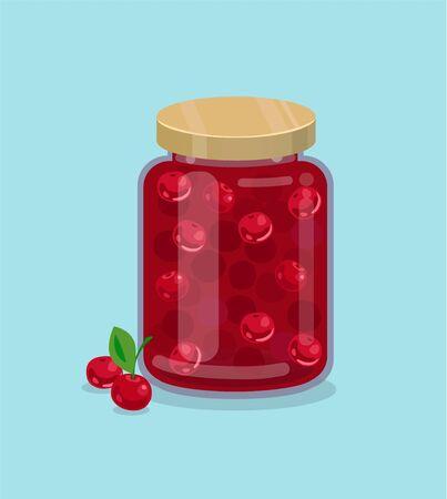 marmalade: Cherry jam vector illustration