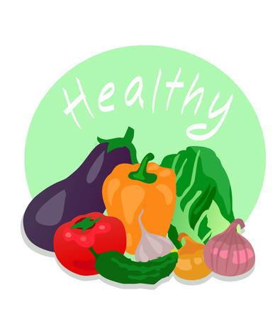 Various Vegetables Vector Illusztráció