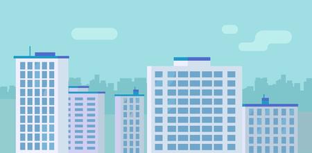 Flat City Skyscraper Buildings