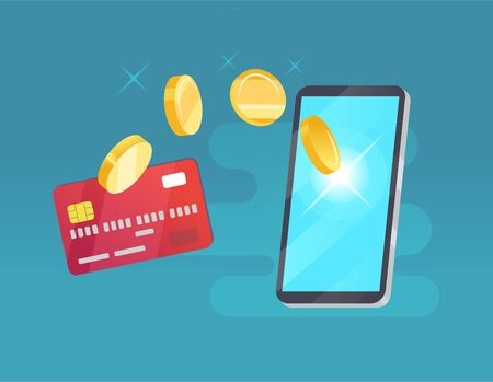 Vector money transfer from card into cellphone