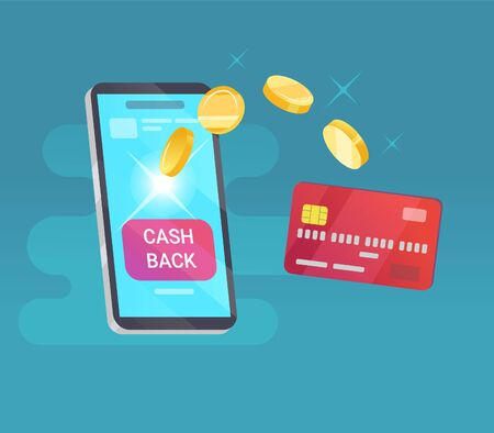 Cash back money transfer from card into cellphone