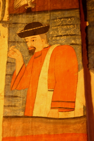 theologian: Murals of Wat Phumin last up to 418 years since 2139 (1596). Stock Photo