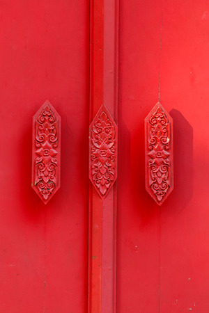 door knob: Red wooden door, Doors, wood doors, solid red.