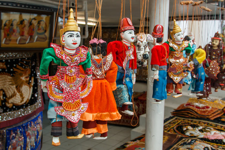 traditional pattern: Puppet of Thailand,Puppetry, Puppet, Show,Puppet souvenir.