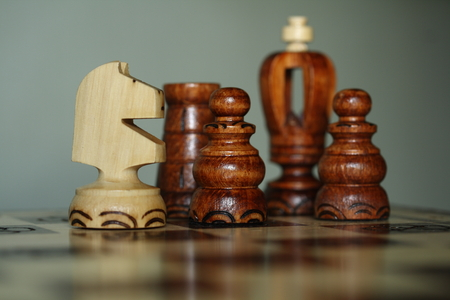 chess board: A chess pieces on the chess board Stock Photo