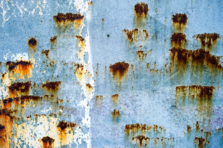 texture of old metal surface with rust Stock Photo