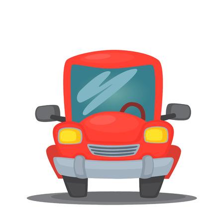 vector illustration red car