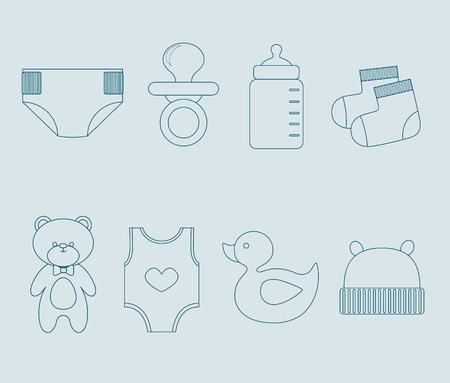 clack: Baby boy elements set