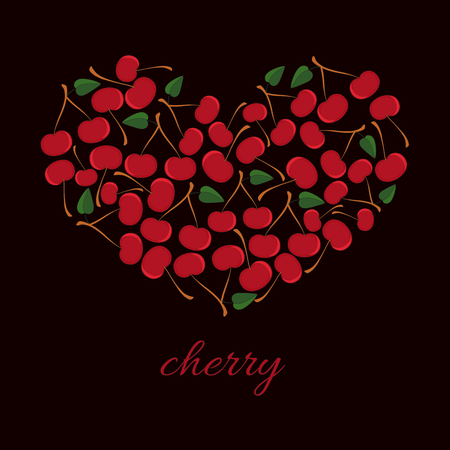 Heart From cherry Illustration