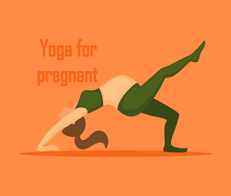 Vector illustration of pregnant woman in the yoga pose Illustration