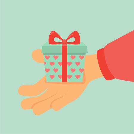 hand holding a gift
