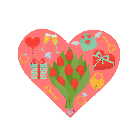 valentines day icon  イラスト・ベクター素材