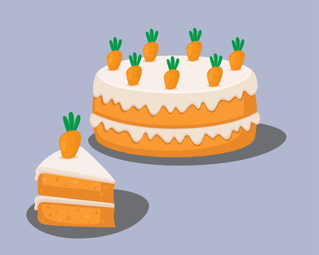 vector illustration of a carrot cake