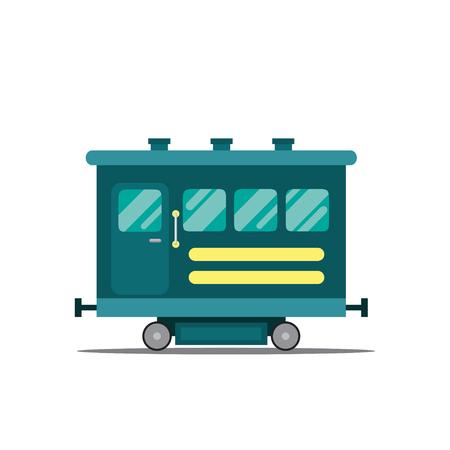 Vector Illustration of a passenger wagon.  イラスト・ベクター素材