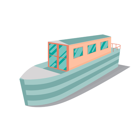Vector Illustration of a narrow boat. Stock Illustratie