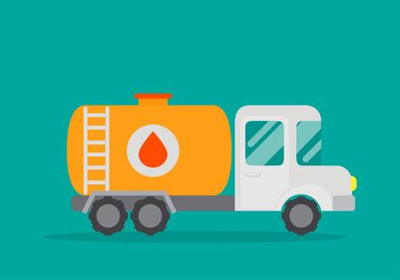 Vector Illustration of a oil truck. Illustration